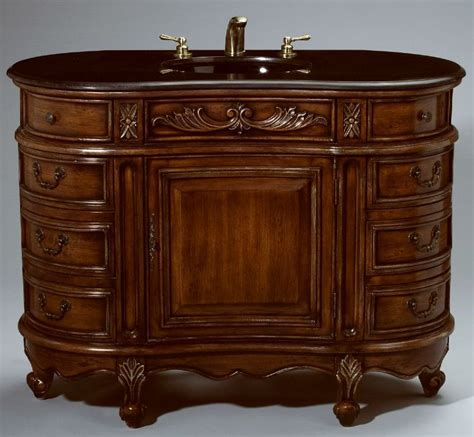 48 inch essa vanity side drawers vanity carved accents