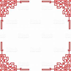 Chinese Red Border Frame Stock Vector Art & More Images of ...