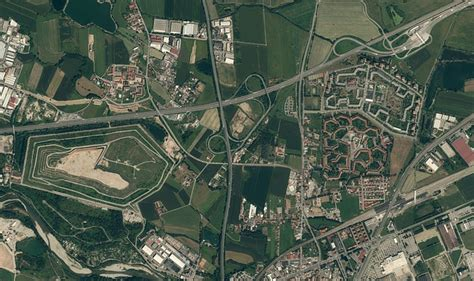 photo satellite  plan village  image