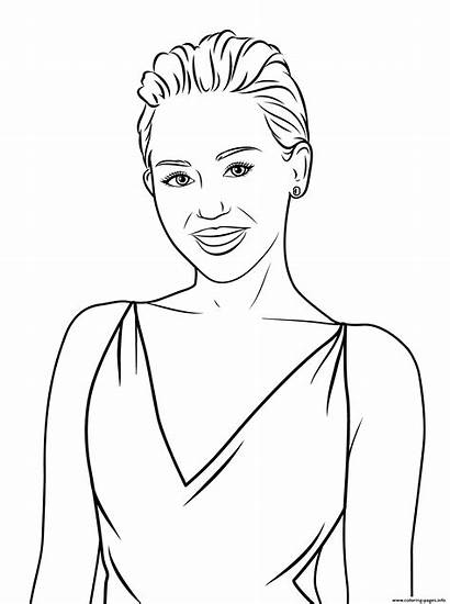 Miley Cyrus Coloring Celebrity Pages Printable