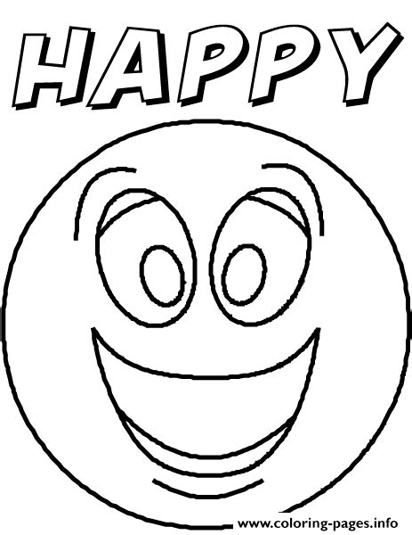 emotion happyblank coloring pages printable