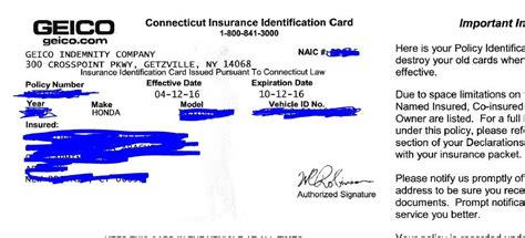 23 Images Of Michigan Auto Insurance Card Template