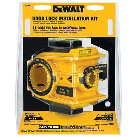 door lock installation kit dewalt door lock installation kit d180004 the home depot