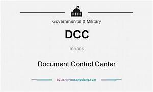 dcc document control center in governmental military With documents control center