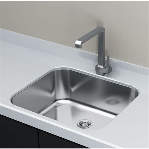the cantrio koncepts single basin mount sink has a sleek design for every kitchen