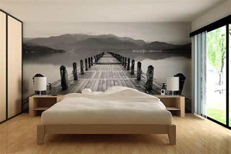 deco tapisserie chambre adulte papier peint décoration accostage izoa