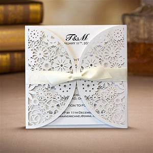 100 pcs laser cut floral wedding invitation laser cut With laser cut floral wrap wedding invitations