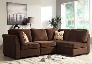 Homelegance Burke Sectional Sofa Set A Dark Brown Fabric