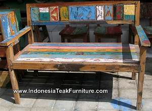Bb1-26 Reclaimed Old Boat Furniture Bali