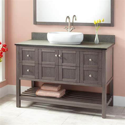 bathroom vanity with vessel sink 48 quot everett vessel sink vanity ash gray bathroom