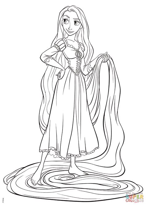 rapunzel  tangled coloring page  printable