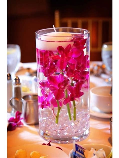 Hurricane Vase Centerpieces For Weddings by Inexpensive Hurricane Vase Wedding Table Centerpiece With