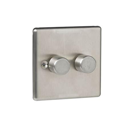 pipe l dimmer switch wilko twin 400w dimmer steel
