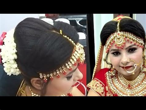 bridal juda hairstyle  tikka setting step  step easy  simple method