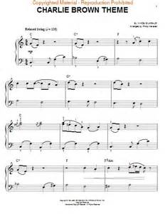 Charlie Brown Theme Song Piano Sheet Music