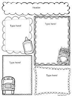 ink friendly newsletters literacy centers classroom
