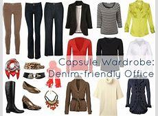 Denim Based Office Capsule Wardrobe