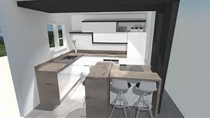 Cuisine Ikea Blanche Et Bois : cuisine moderne blanche et bois ~ Dailycaller-alerts.com Idées de Décoration