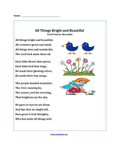 englishlinx poetry worksheets