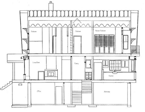 house building plans how to draw house cross sections