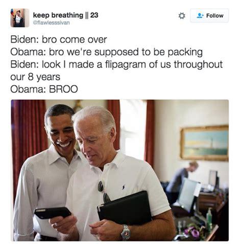 Obama Laughing Meme - those joe biden memes make us miss him even more 6 pics