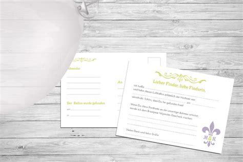 ballonkarten zur hochzeit individuelle postkarten zum