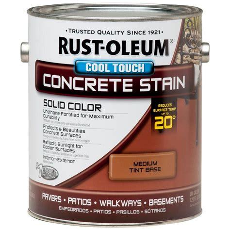 rust oleum 1 gal concrete stain cool touch medium tint