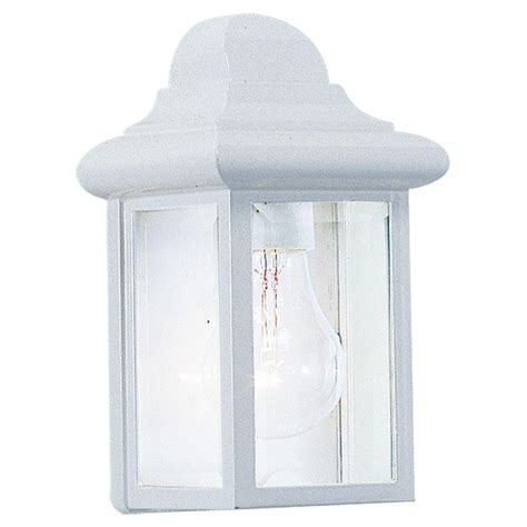 sea gull lighting mullberry hill 1 light white outdoor