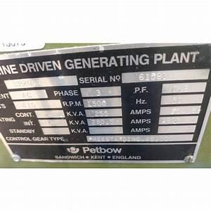 Cummins 204 Kw 400 Volt Diesel Generator