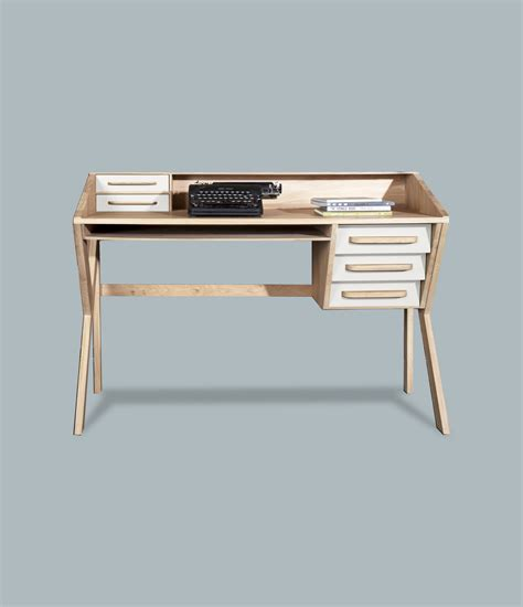 bureau ethnicraft bureau en bois massif avec tiroirs collection origami by