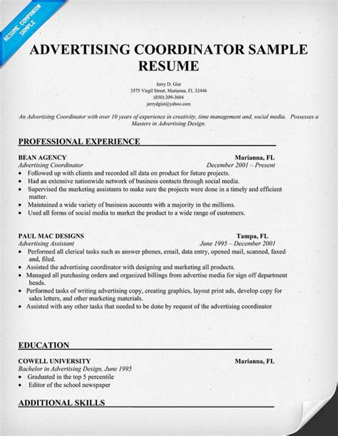 Admissions Coordinator Description by How To Write Cv For Admission