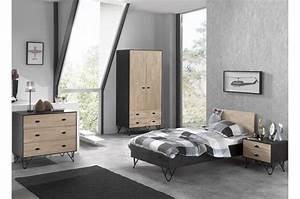 Chambre Complete But : chambre coucher ado lit 90x200 timo cbc meubles ~ Teatrodelosmanantiales.com Idées de Décoration