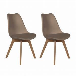 Lot De 2 Chaises Design Scandinaves Pas Cher Pieds En Bois