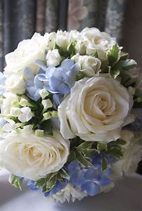 Arley Hall Wedding - White and blue wedding flowers ...