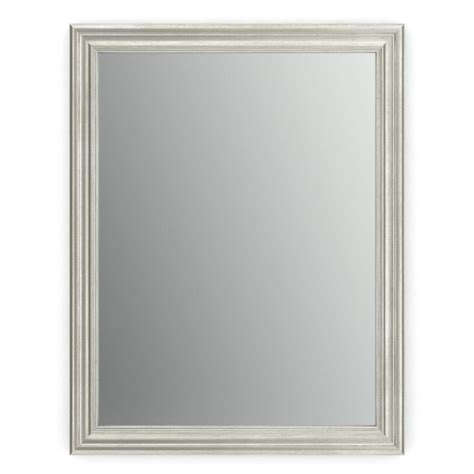 Nickel Framed Bathroom Mirror by Glacier Bay 28 In X 22 In Framed Mirror In Brushed