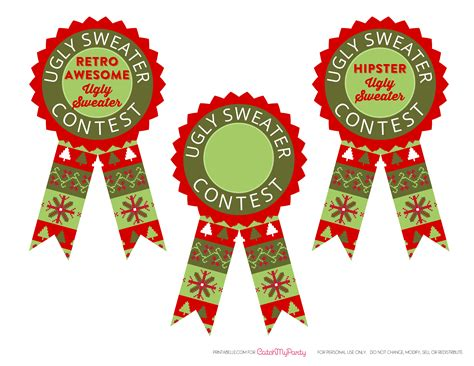 printable ugly sweater certificate no download free sweater printables catch my