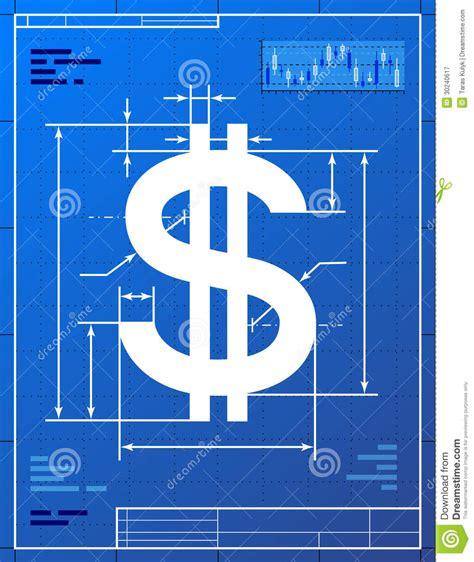 dollar sign  blueprint drawing royalty  stock