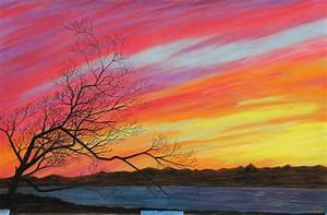 Kino Bay Sunset & Tree Silhouette in Pastel | Leeann's ...