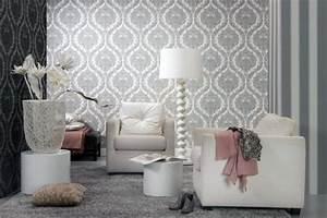 Papier Peint Moderne Salon : papier peint intiss 25 designs originaux pour le salon ~ Melissatoandfro.com Idées de Décoration