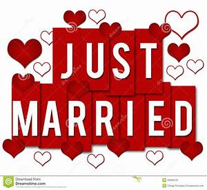 Just Married Red Stripes stock illustration. Image of ...
