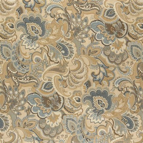 Blue Paisley Upholstery Fabric by A0025a Gold Blue And Green Abstract Paisley Upholstery