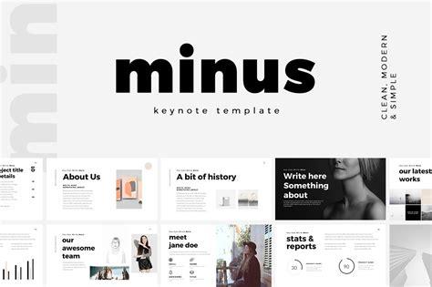 minimal keynote template keynote templates creative market