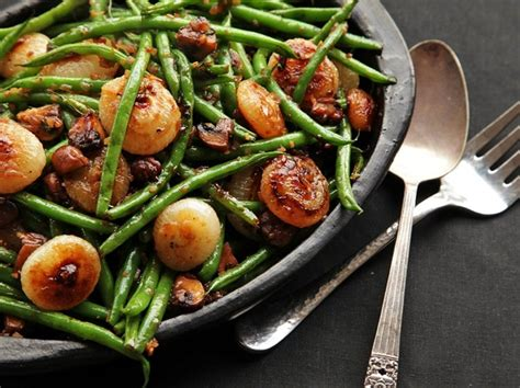 food lab sauteed green beans  mushrooms