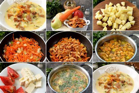 Gaileņu zupa ar dārzeņiem un kausētu sieru - Laiki mainās!