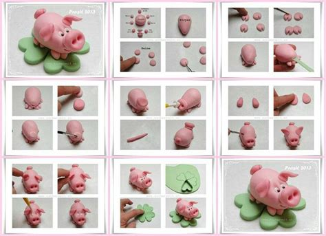 How To Make Fall Decorations At Home: How To Make A Fondant/gumpaste Pig.