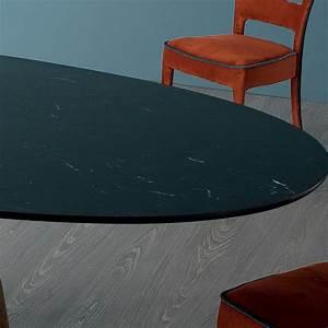 Table Ovale Design : bonaldo greeny table ovale design en marbre marquinia faite en italie ~ Teatrodelosmanantiales.com Idées de Décoration
