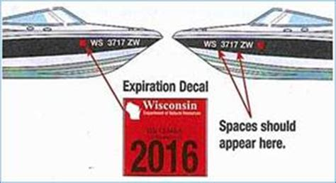 Boat Registration Numbers Wi registration and titling information for boats