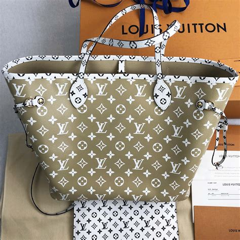 louis vuitton giant monogram khaki green  pouch handbagholic