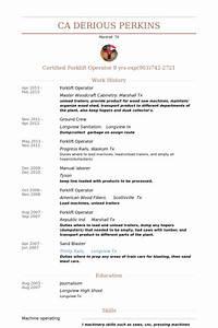 forklift operator resume samples visualcv resume samples With forklift operator resume template