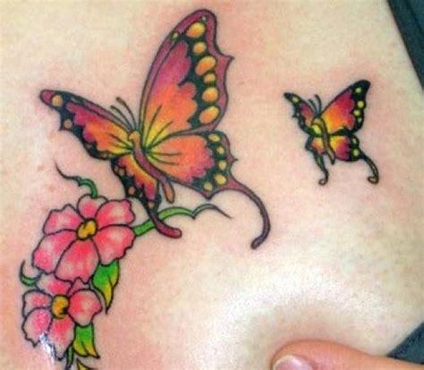 tattoos flowers  butterflies